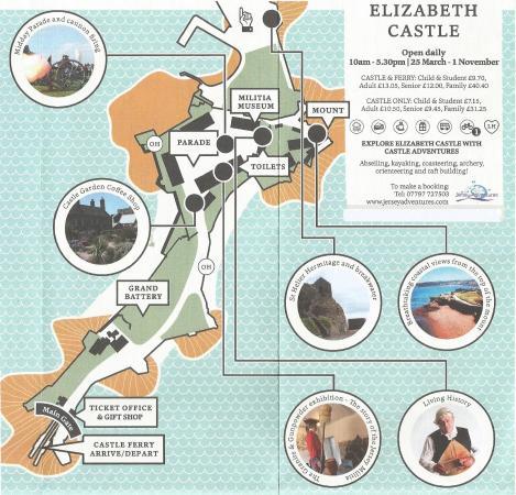 Free Jersey Heritage map - Bild von Elizabeth Castle, St ...
