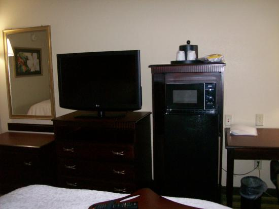 Hampton Inn Richmond Southwest - Hull Street : Room 206, Double Room, with mini Refrigerator and Small Microwave, and Flat Screen TV