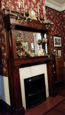 Room With Baseball Memorabilia McFarlin House One Of The Beautifully Restored Fieplaces