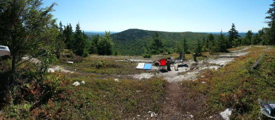 Orland, ME: Panoramic from the yurt