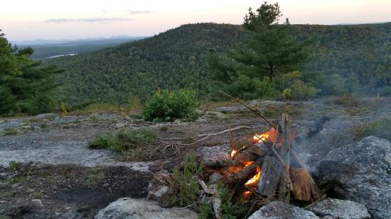Orland, ME : Campfire at night