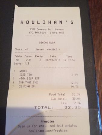 Houlihan's: Good prices