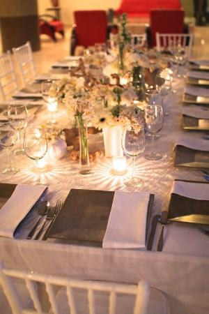 Bonifacio's Cotton Club: Our wedding reception dinner table