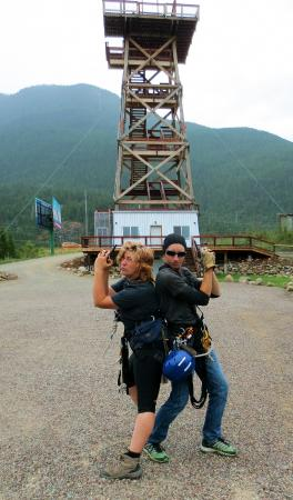 Columbia Falls, Μοντάνα: Funny guides who keep you safe up there!