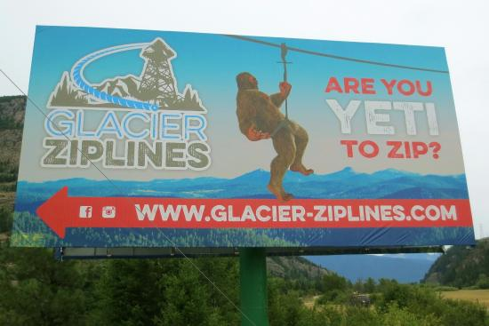 Columbia Falls, Μοντάνα: Look for this sign on Highway 2