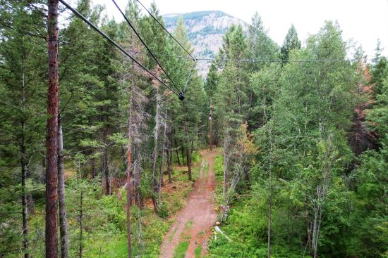 Columbia Falls, MT: Fun zip lines