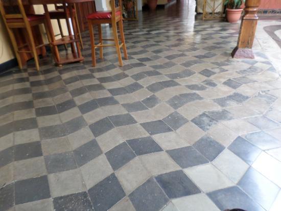 Optical illusion floor tiles picture of casa xanadu for Floor illusions