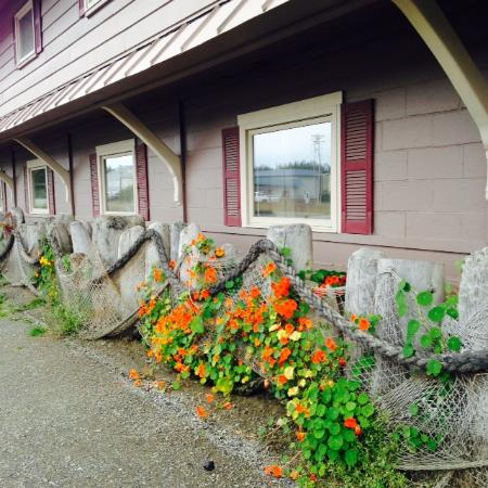 Beluga Lake Lodge: Nautical Decor and Flowers in September