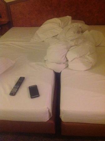 Best Western Hotel Am Drechselsgarten: Two beds, not a bedfor two.