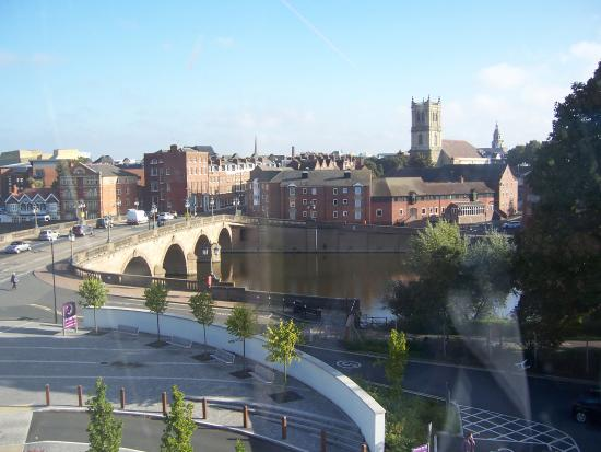Premier Inn Worcester City Centre Hotel View From The Top Of Stairs On