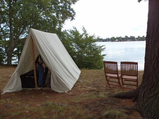 Webster, MA: Our tent by the lake