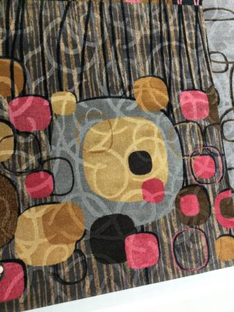teddy bear faces in the carpeting picture of flamingo las vegas
