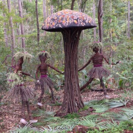 Mushroom Fairies Outdoor Art At The Arboretum Picture Of Jacksonville Arboreteum Gardens