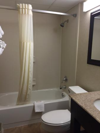 Howard Johnson Inn Clifton: An okayish bathroom