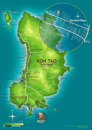 Jamahkiri Resort & Spa: Koh Tao Map