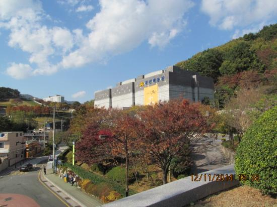 Bokcheon Museum: Set on a hill, see the green area behind for spectacular view