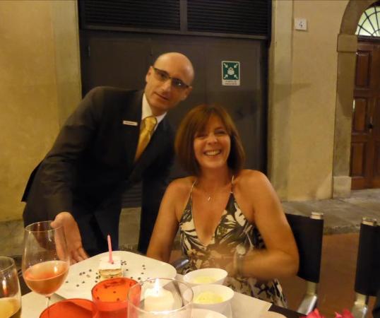 Hotel Brunelleschi: Birthday Celebration in the hotel restaurant