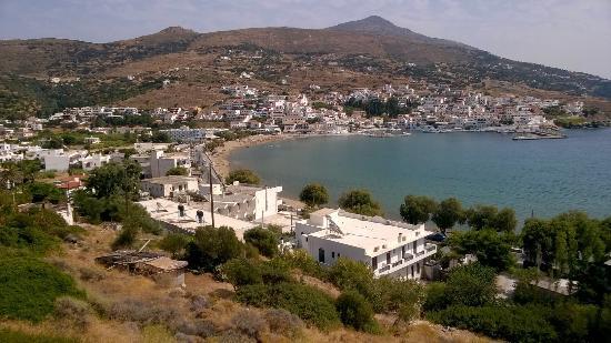 Batsi, اليونان: Uitzicht vanaf Skrekos Studio