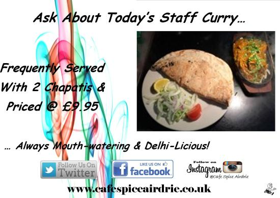 Cafe Spice Airdrie: One Of Our Famous Staff Curries