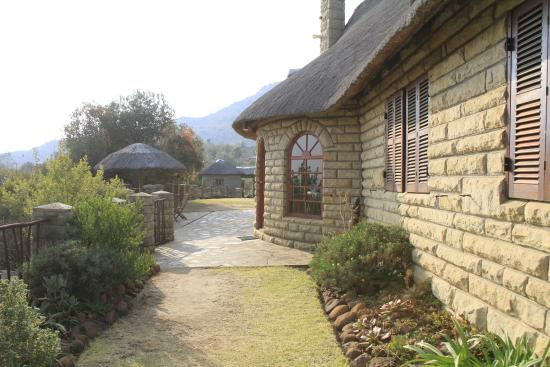 Morija, Lesotho: The lovely house built by the owners.
