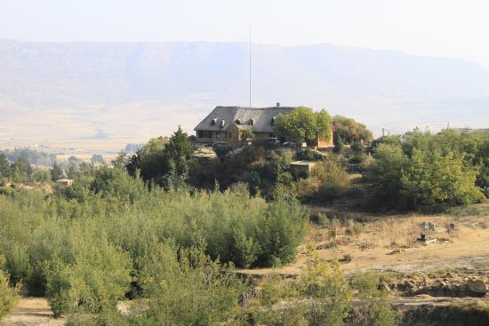 Morija, Lesotho: A view of the guesthouse from a nearby hill.