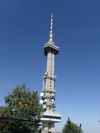 Vitosha Mountain: TV Tower looking down from the mountain