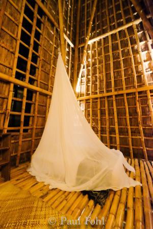 Bambu indah intérieur de la maison de bambou