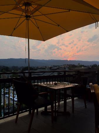 Menlo Park, CA: Sunset view from the deck of Madera