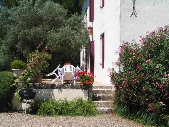Montcaret, Frankrike: la terrasse