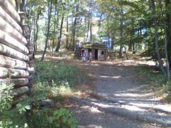 Jockey Hollow: surrounding huts