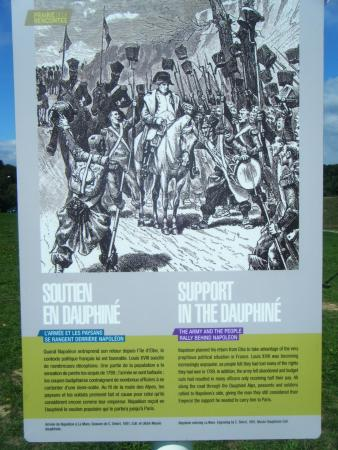 Lac Laffrey : une des affiche relatant son retour de l' ile d'elbe