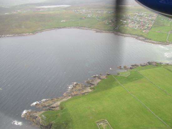 view from plane going to fair isle - Picture of South Lighthouse ...