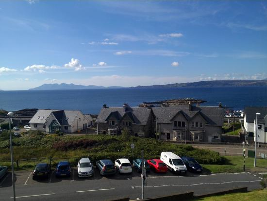 West Highland Hotel: View from our room (first floor, room no. 14)