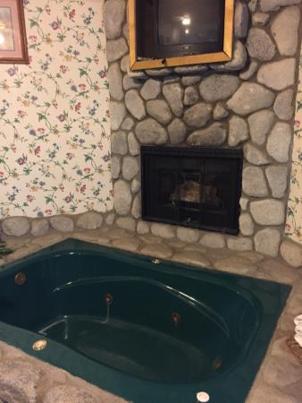 Black Forest Lodge: Queen, studio-hot tub/fireplace