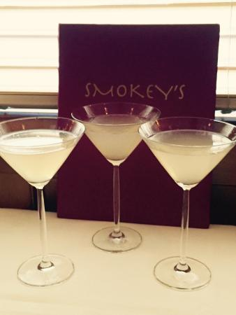 Smokey's: Prickly Pear martinis and filet -- fantastic!
