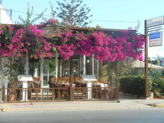 MariRena Hotel: The view of the hotel from the street