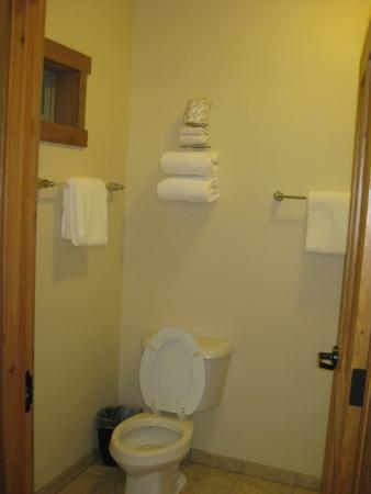Glacier Guides Lodge : Bathroom