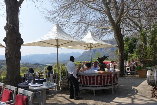 Gourmet Wine Tours: Lunch location during day of wine tasting.  Spectacular