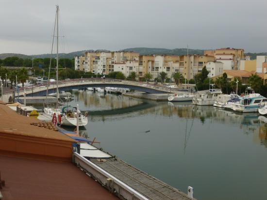 view from bedroom balcony photo de hotel port gruissan