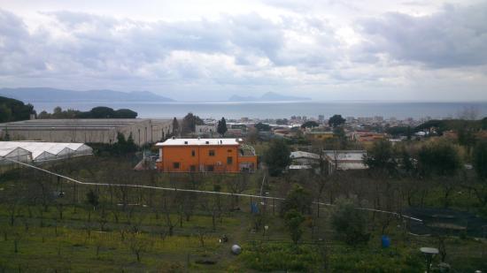 Panorama Da Villa Delle Ginestre Vesuvio Foto