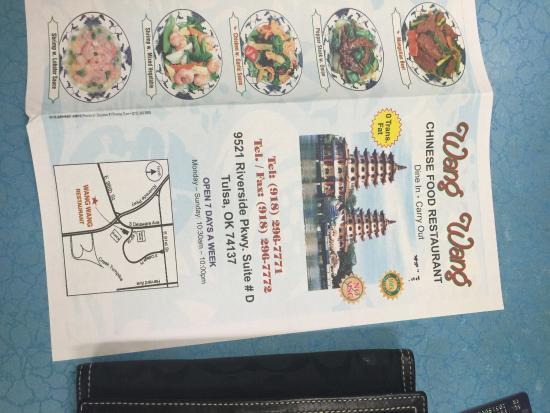 Menu Picture Of Wang Wang Chinese Food Tulsa Tripadvisor