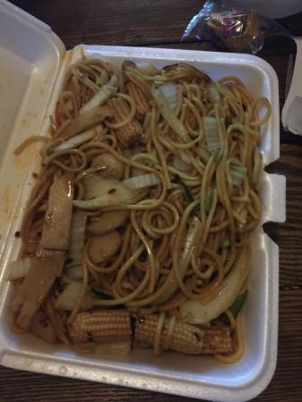 Vegetable lo mein picture of wang wang chinese food for Asian cuisine tulsa