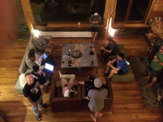 Rocanegra Mountain Lodge & Spa: Our group kickin' it in the great room. This was an every night thing.