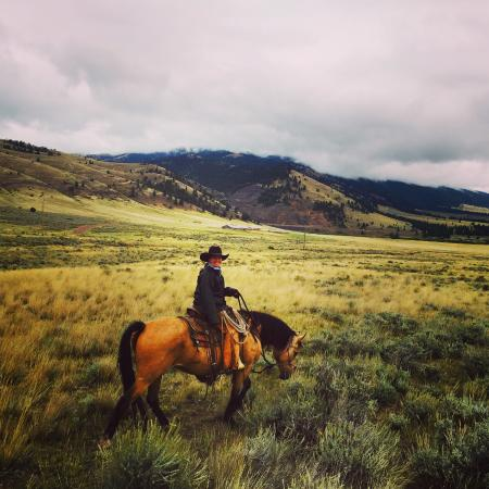 Wolf Creek, MT: Maria on a morning ride. No filter