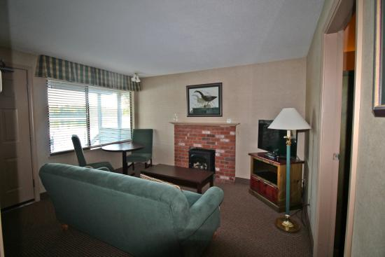 Econo Lodge Inn & Suites: Living room of cabin