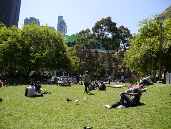 garden of front - Picture of State Library of Victoria, Melbourne ...