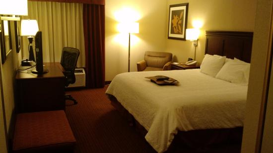 Hampton Inn Scranton at Montage Mountain: King room.