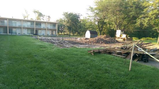 Bay City, MI: Site of former pool.