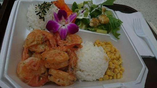 Blue water shrimp seafood alamoana makai market food for Blue water fish market