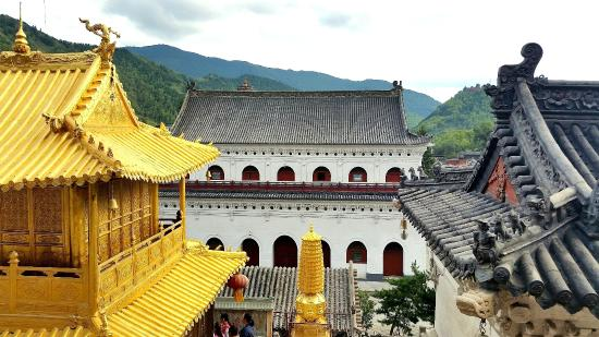Wutai County, China: Xiantong Temple view from upper terracs - Horst_8877